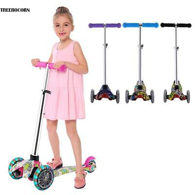 Kinder Scooter mit 3 LED Rädern  Kinderroller Tretroller justierbare Höhe Hot