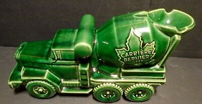 Pottery Model of a Carriers Bernier Cement Truck Promotional Ashtray  C 1970's