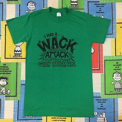 Vintage 80S I Had A Wack Attack Glen Haven Wisconsin T Shirt Retro Funny Ched M