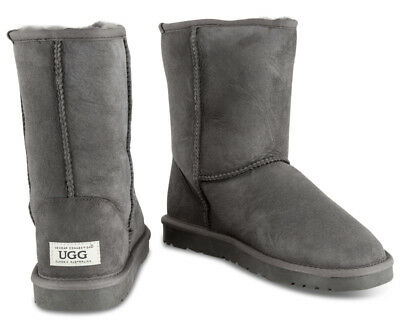 OZWEAR Connection Unisex Classic 3/4 Ugg Boot - Charcoal AU M 9 (TT1500)