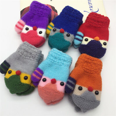 Winter Warm Toddler Baby Boy Girl Kid Child Cute knitted Mitten Gloves Xmas Gift