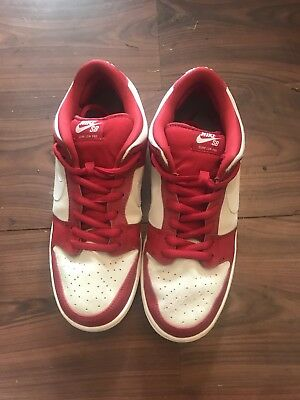 new product c187f 627fa ... coupon code for nike dunk sb low red white valentines day 2015 mens  size 10.5 80266