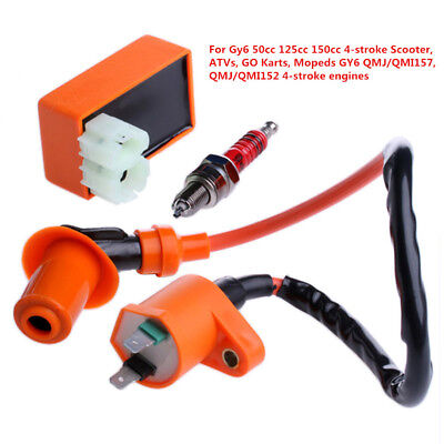 12V IGNITION COIL+5 Pin CDI Box+Spark Plug For Chinese ... on