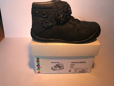 CHAUSSURE FILLE BABYBOTTE AISY noire taille 22 neuve N°76 - EUR 33 ... bf31a02388cd