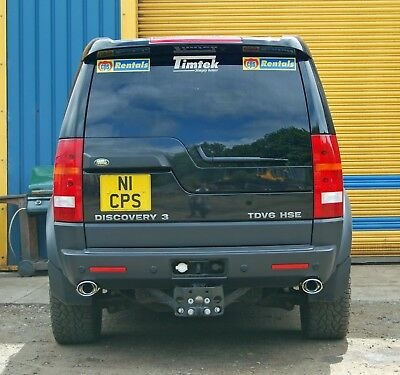 Land rover discovery 3 exhaust stainless steel rear oval or quad pipes