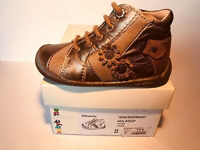 CHAUSSURE FILLE BABYBOTTE AULALOUP TAUPE taille 22 neuve N°77 - EUR ... 124f7c4be27b