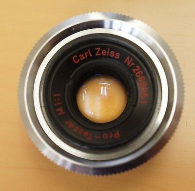 Excellent Condition Carl Zeiss Pro-Tessar M1:1 Macro Lens for Contaflex!