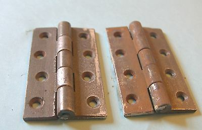 Pair of 4 inch cast iron hinges  unnamed maker