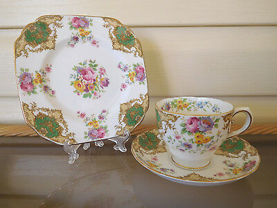 "Tuscan ""Provence"" Trio C8496 Made In England 1940s"