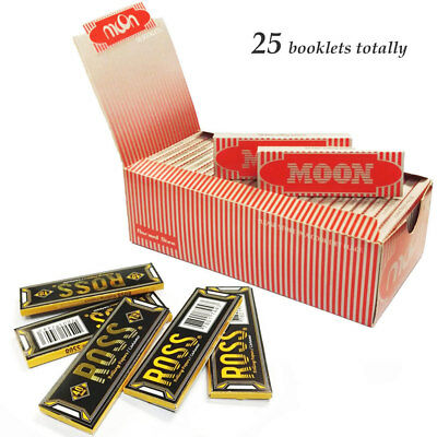 "Moon Red 1.0"" 25 booklets 70*36mm Cigarette Rolling Papers Wood Papers & RO*S"