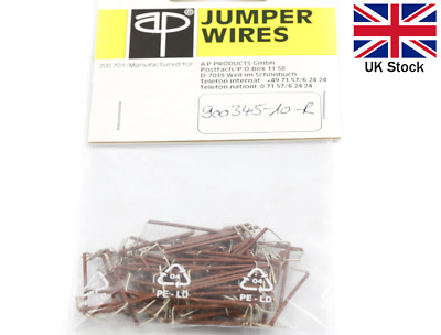 Pre-Cut Wire Jumper 25.4mm (100 pcs) - 3M Breadboard Prototyping - UK Stock