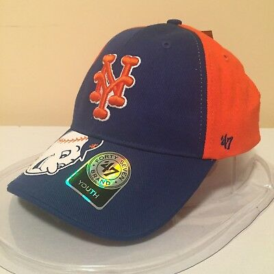 MLB New York Mets YOUTH Adjustable Semi Structured Low Profile Cap by '47