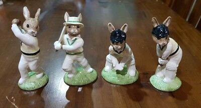 Royal Doulton Bunnykins Cricketers DB144 DB145 DB150 DB160