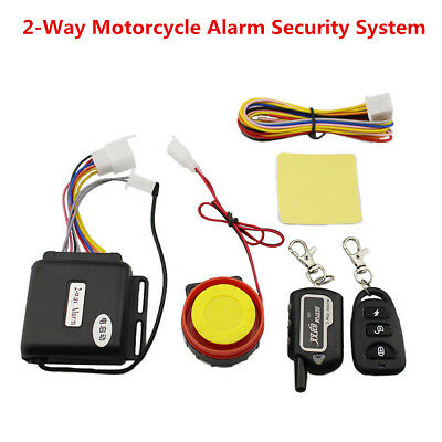 Motorcycle Lock Security Two Way Alarm Remote Control Engine Start Anti Cut Off