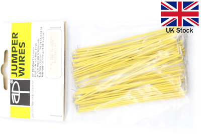 Pre-Cut Wire Jumper 101.6mm (75 pcs) - 3M Breadboard Prototyping - UK Stock