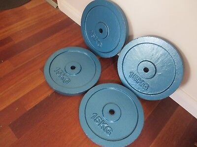 15Kg Weight Plates - X 4 Brand New