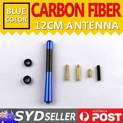 4.7'' Carbon Fiber Blue Car Antenna Aerial Radio AM/FM Signal Amplifier Booster