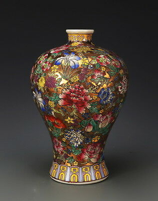 Large Chinese Antique Famille Rose Porcelain Mei-Ping Vase