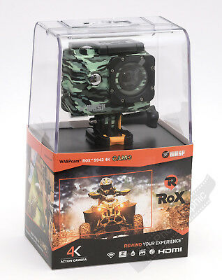 WASPcam ROX9942 Action Cam 4K Camera Full Kit Free Recorded Post