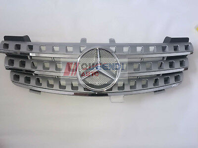 For Mercedes-Benz W164 Silvery ML350/ML450 Front Hood Grill Mesh 05-08 NEW
