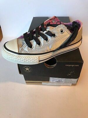 8094afc76051a chaussures FILLE CONVERSE GRISE METTALISE taille 27 neuve N°123