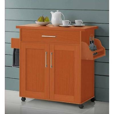 Rolling Kitchen Island Cart Microwave Cabinet Stand Storage Trolley Utility  Rack