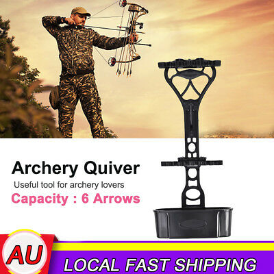 6 Arrow Quick Release Quiver Archery Arrows Holder Hunting Compound Bow AU Stock