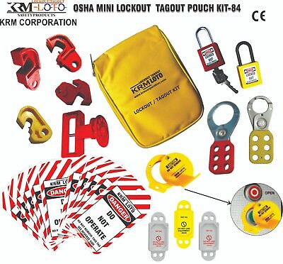 Krm Loto - Osha Mini Lockout Tagout Pouch Kit 84