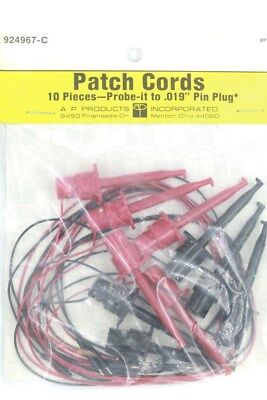 Patch / Test Leads Hooks to Pins - 3M Prototyping / Test - UK Stock