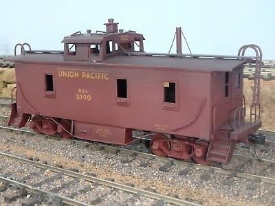 Old O Scale Union Pacific2 Rail Brass Caboose
