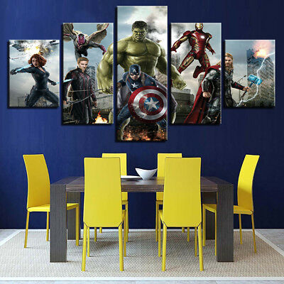 The Avengers Poster Movies Canvas Prints Painting Wall Art Home Decor Picture 5P