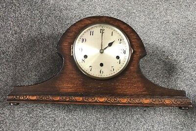 Antique Junghans Wurttemberg Napoleon Hat Mantle Clock Westminster