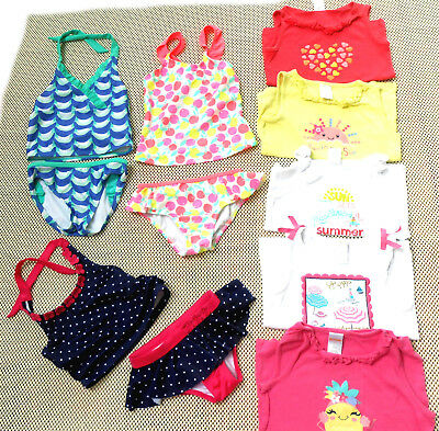 Girls 5T GYMBOREE Clothing Lot 3 SWIMSUITS+5 TANK TOPS Bathing Suits SUMMER LOT!