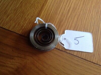 Small Clock Main Spring 8.85mm  Width 36.14mm Diameter Complete & Good Condition