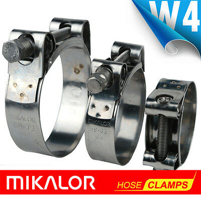MIKALOR W4 | Hose Clamps |Stainless Steel Supra | Exhaust | T Bolt | Marine Clip