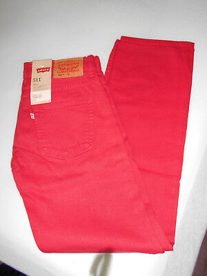 Jean levi's toile rouge 14 ans neuf 511