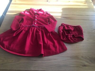 Baby Girl Red Ralph Lauren 12 months dress and knickers set