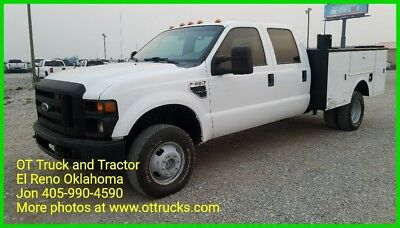 2008 Ford F-350 4wd Crew Cab 6.8L Gas Service Utility 9ft utility body