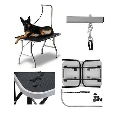 "Portable Table Large Grooming Pet Dog Cat Trimming Steel 36"" Foldable 16"
