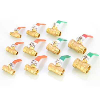 Brass Gas Ball Valve BSP Male/Female Thread Fitting Barb Hose Tail End Connector