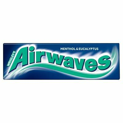 Wrigleys Airwaves Menthol & Eucalyptus Chewing Gum - 10 Pieces 1 2 3 6 12 Cases