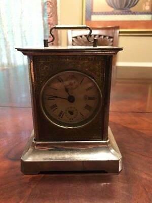 Antique Junghans Musical Carriage Alarm Clock. Works Perfectly. Early 1900's