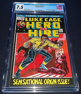 Luke Cage Hero For Hire Issue 1 | Vf- Cgc 7.5 | Origin & 1St App |  Power Man