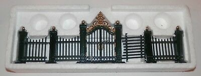 Dept 56 Heritage Village Wrought Iron Gate and Fence Set of 9 #5514-0