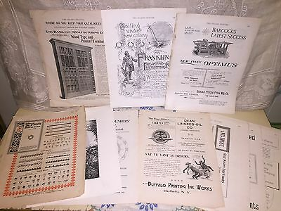 Antique The Inland Printer Magazine Loose Pages Advertising  Printing