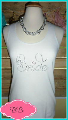 NEW size M misses white bride tank top bachelorette tank top bride to be heart