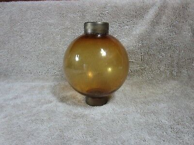 Amber Glass Lightning Rod Ball Barn Garden Roof Patio Home Decor