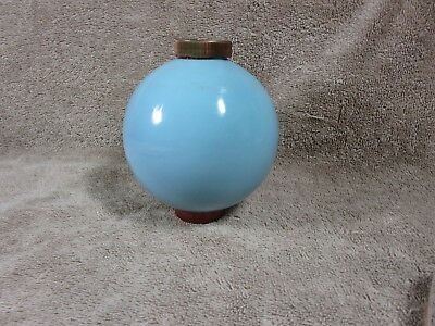 Vintage Rare BLUE MILK GLASS Weather Vane Lightning Rod Ball