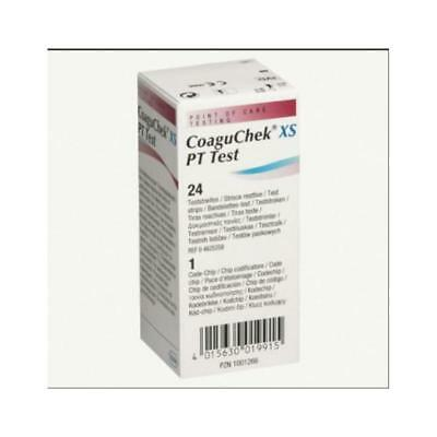 Roche coaguchek xs pt test strips Model: 7797826160 (24/BX)