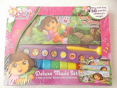 Nickelodeons Dora The Explorer Deluxe Music Set Books And Xylophone Age 3 B03
